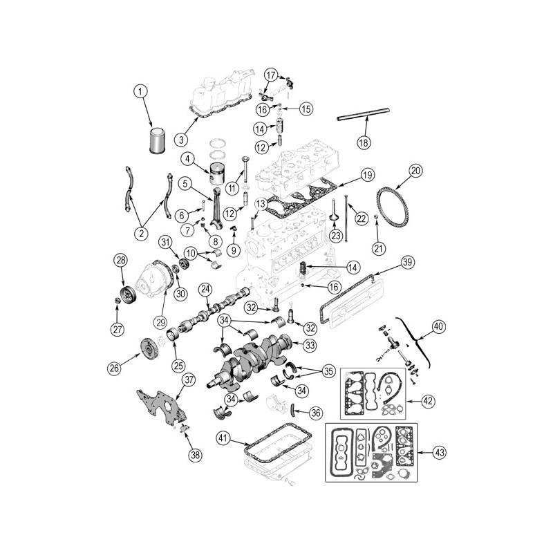 pochette de joint moteur rodage M38A1