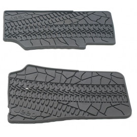 "tapis avant noir ""trace pneu"" (2) JK"