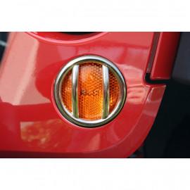 grille de protection inox clignotant calandre (2) jeep JK