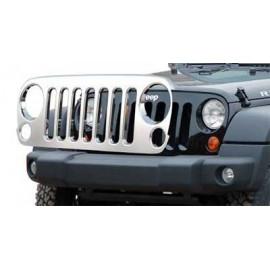 Enjoliveur de calandre (grille) INOX Jeep Wrangler JK