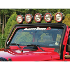 Barre support phare sur pare brise JEEP Wrangler JK