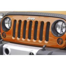 Grille calandre noire Jeep Wrangler JK a losange