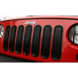 Enjoliveur calandre noir et alu (insert) Jeep Wrangler JK