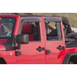 Déflecteur air fumé sur porte Jeep Wrangler JK 4 portes