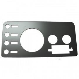 Plaque enjoliveur tableau de bord noire JEEP CJ CJ5 CJ7