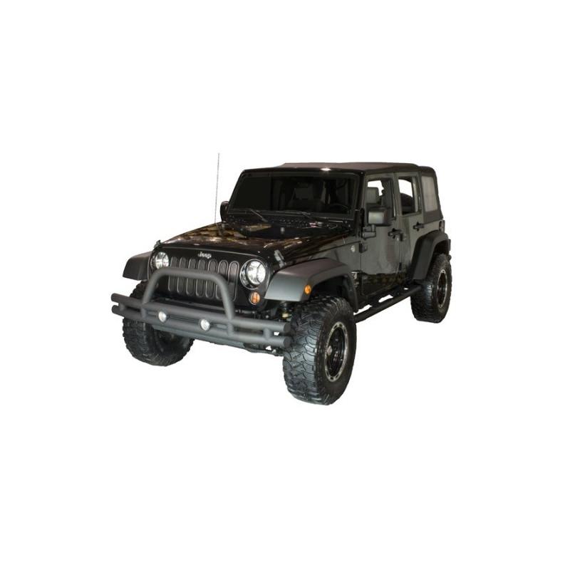 pare choc avant double tube noir jeep wrangler jk kulture jeep. Black Bedroom Furniture Sets. Home Design Ideas