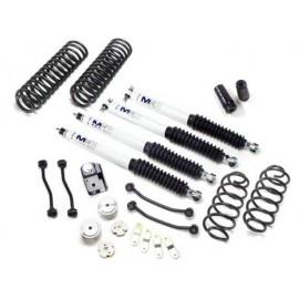 "kit suspension +4"" 100mm PROCOMP avec amortisseurs MX6 reglables Jeep Wrangler JK 2007+"