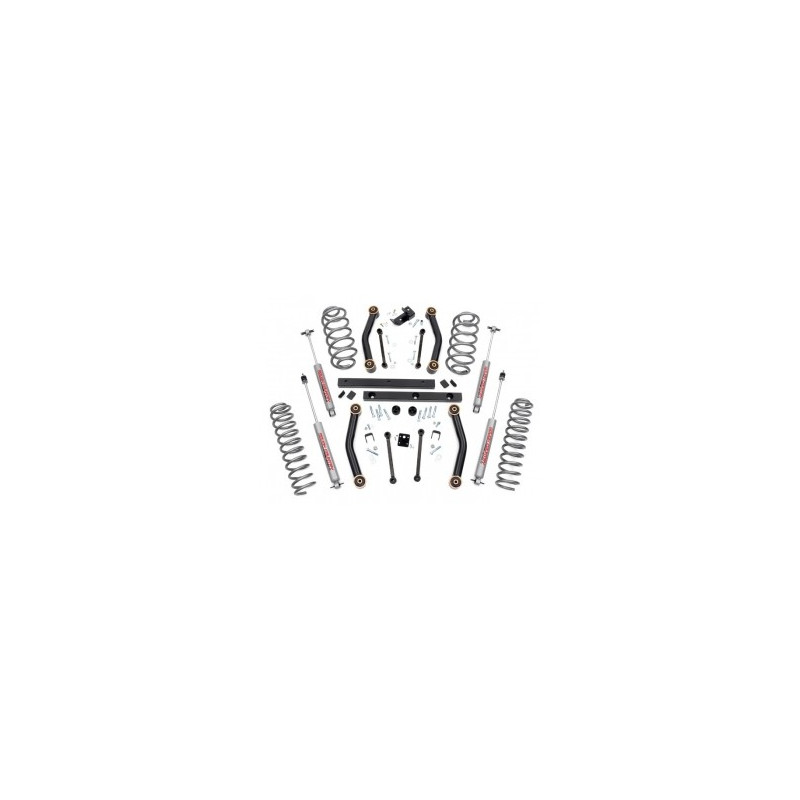 "kit suspension +4"" 100mm avec amortisseurs Jeep Wrangler TJ 1997-06"