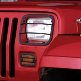 Grille protection phare et feu avant Jeep Wrangler YJ