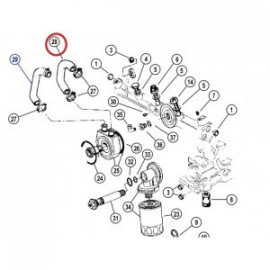 Durite eau de refroidisseur 2.5td VM Jeep Cherokee XJ & Grand ZJ 1994-2001