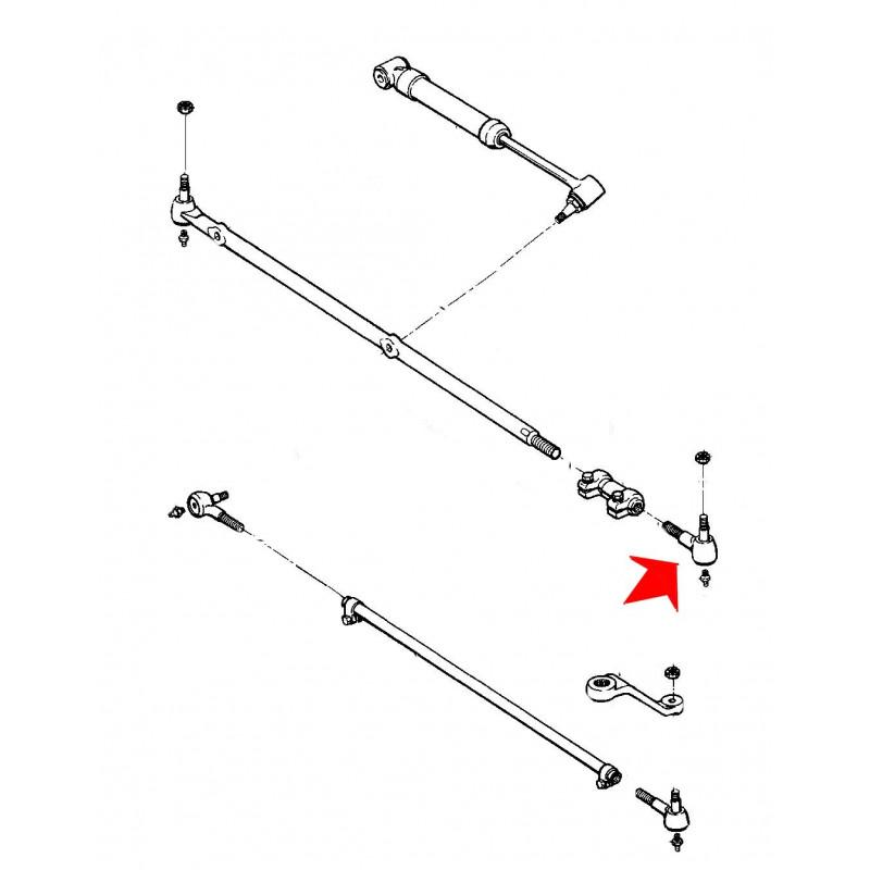 rotule de direction gauche 1987-90