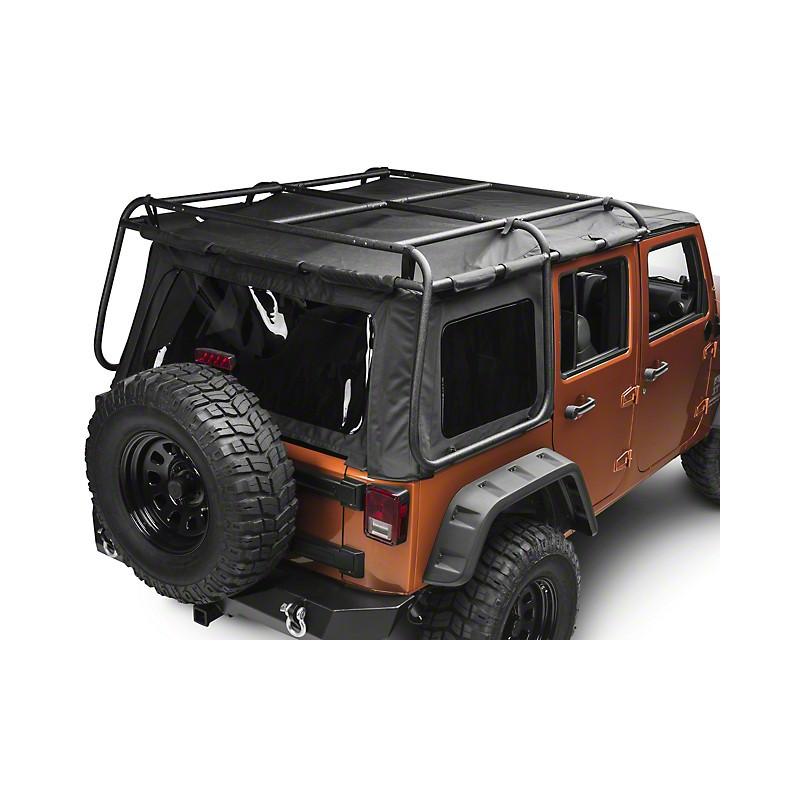 galerie bache exo top jeep wrangler jk 4 portes porte 150 kg kulture jeep. Black Bedroom Furniture Sets. Home Design Ideas