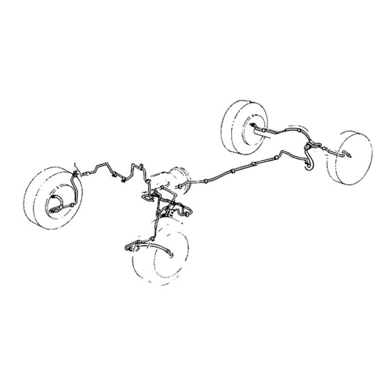 kit tuyanterie frein complet INOX 1967-06