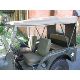 capote été toile kaki JEEP Willys M38A1