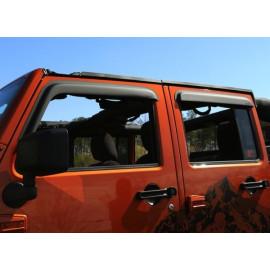 deflecteur air noir mat s/porte JEEP Wrangler JK 4 portes