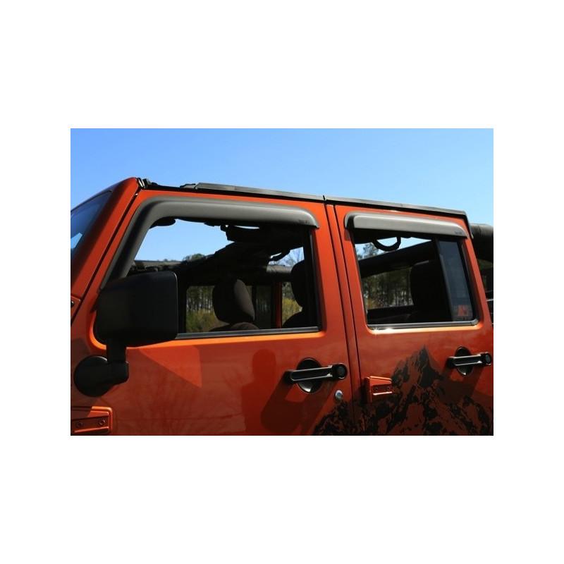 Deflecteur Air Noir Mat S Porte Jeep Wrangler Jk 4 Portes
