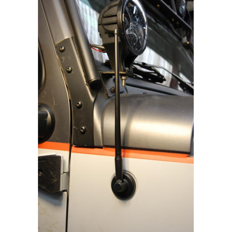 Antenne brin court flexible Wrangler 2007 et +