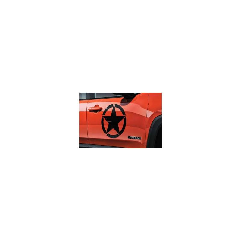 Etoile de portiere Jeep origine ( noir ou blanc) la paire