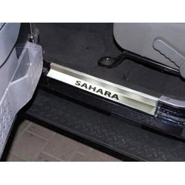 """Seuil de porte Inox jeep wrangler """"SAHARA"""" JK 2007 &+"""