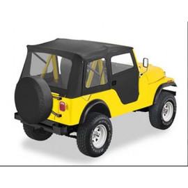 Capotage Supertop Black avec portes soft-top en Jeep CJ