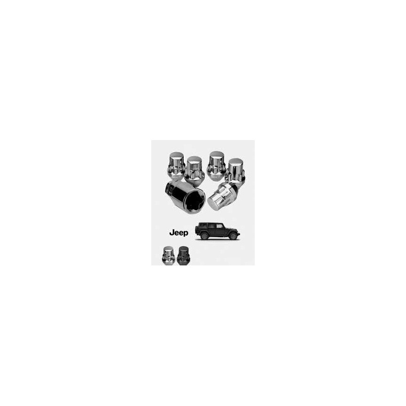 Ecrou de roue antivol 1/2 (x5) Jeep CJ CJ5 CJ7 Wrangler YJ TJ JK Cherokee XJ KJ & grand ZJ WJ JAN812B