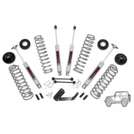 "kit suspension rehausse +2.5"" 65mm avec amortisseurs Jeep Wrangler JK 2007+"