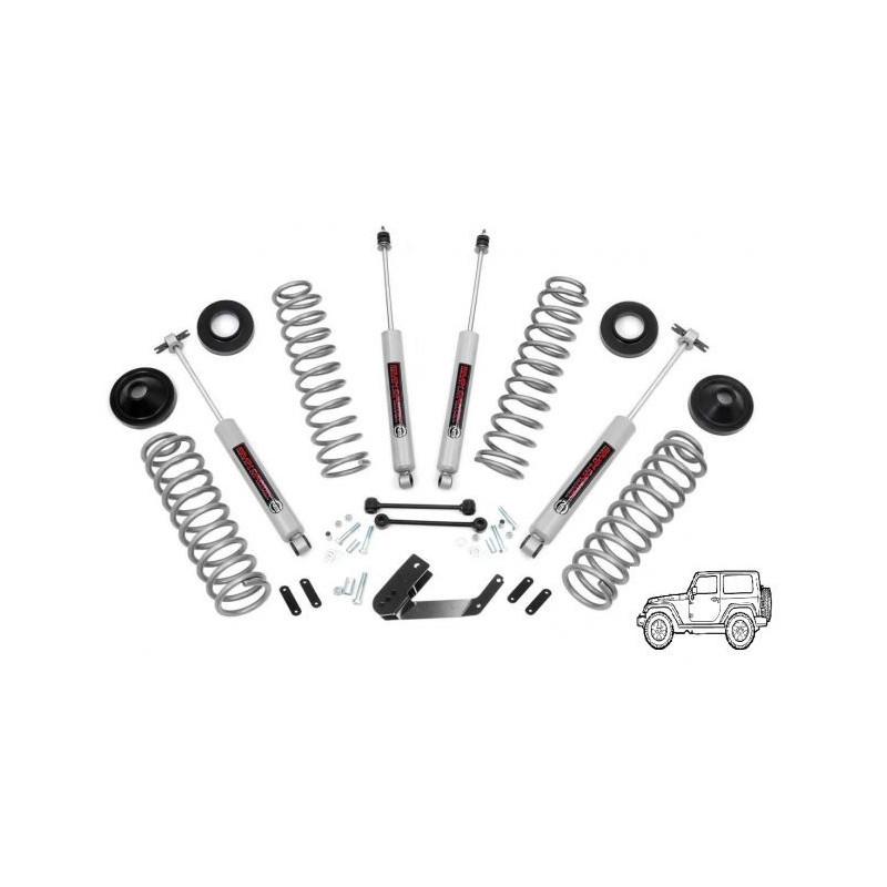 "Kit suspension 3.25"" ROUGH COUNTRY Jeep Wrangler JK 4 portes"