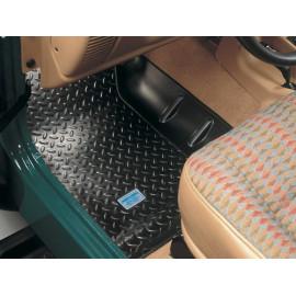 Tapis de sol avant caoutchouté noir Jeep CJ 76-86