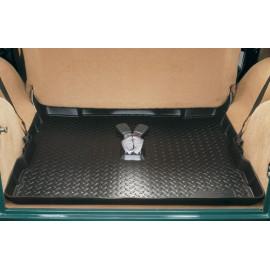 Set de tapis de pied caoutchouc en caoutchouc noir Jeep CJ 76-86