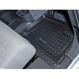 Tapis de sol en caoutchouc arrière noir 4 portes Jeep Wrangler JK 07-10