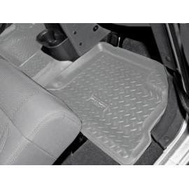 Tapis de sol caoutchouc arrière 4 portes Jeep Wrangler JK 07-10 gris