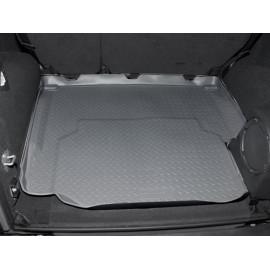 Tapis de coffre en caoutchouc gris 4 portes Jeep Wrangler JK 07-10