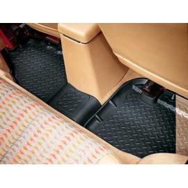 Tapis de sol en caoutchouc arrière 4 portes Jeep Wrangler JK 11-18 noir