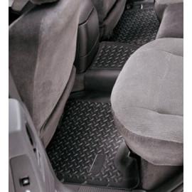 Tapis de sol arrière en caoutchouc noir Jeep Cherokee KJ 02-07
