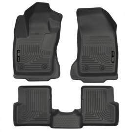 Tapis de sol en caoutchouc avant et arrière noir Jeep Renegade 15-