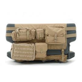 Jeu de housses de siège à l'arrière avec les poches Jeep CJ 76-86