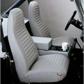 Housses de siège gris Jeep CJ + Wrangler YJ 76 - 91