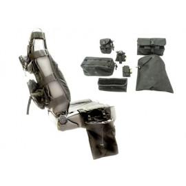 Housse siège avant avec 7 poches noir Housse siège Jeep Wrangler TJ 96-06