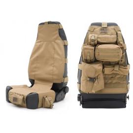 Housse de siege avant incluant 7 poches Housse de selle beige Jeep Wrangler TJ 96-06