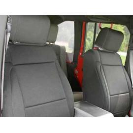 Housse de siège avant noir Jeep Wrangler JK 07-10