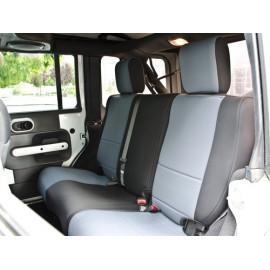 Jeu de housses de siège arrière noir / charbon Jeep Wrangler JK 07 à 4 portes en néoprène