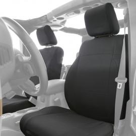 Jeu de housses de sièges avant et arrière en néoprène noirs Jeep Wrangler JK 13-18