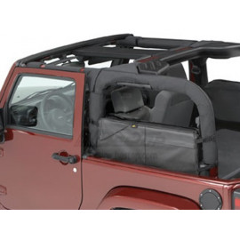 Sac de rangement arrière poches latérales noires Jeep Wrangler JK 07-17
