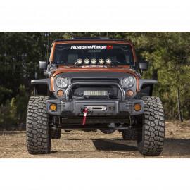 Spartacus Stubby Bumper Black 0718 Jeep Wrangler JK JKU