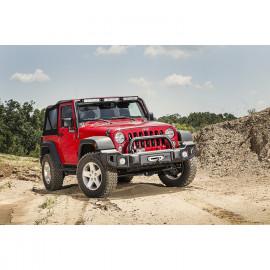 Overrider Satin Black Spartacus Bumper 0718 Jeep Wrangler JK