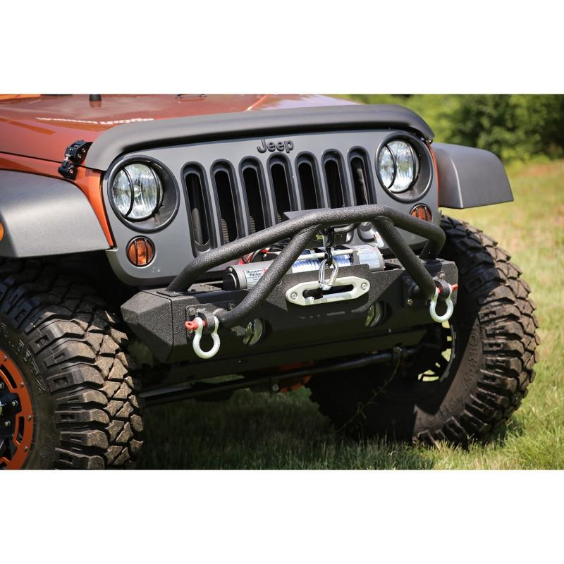 XHD Bumper Double X Striker Noir 7686 CJ 8718 Wrangler YJ TJ JK