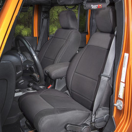 Housse de siège avant en néoprène noir 11-18 Jeep Wrangler JK
