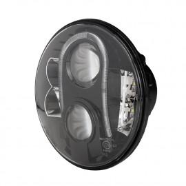 Optique de phare à LED 7 pouces E-mark noir Gerneration 2 Jeep Wrangler JK 07-18 0824.27