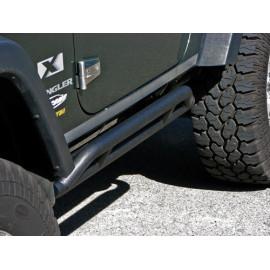 Barres latérales de protection latérale noire X2 protections latérales de porte Jeep Wrangler JK 07-
