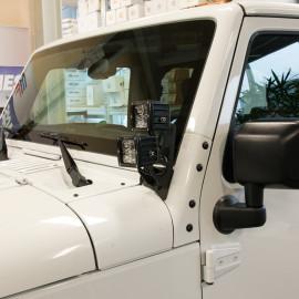 Support pour phares sur le cadre de la fenêtre double LED Jeep Wrangler JK 07-18